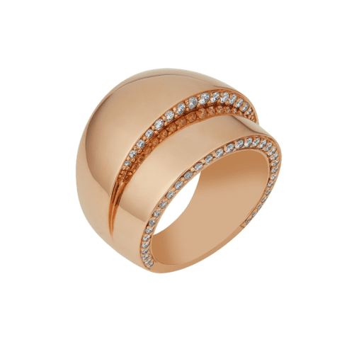 Rose Gold and diamond dress ring