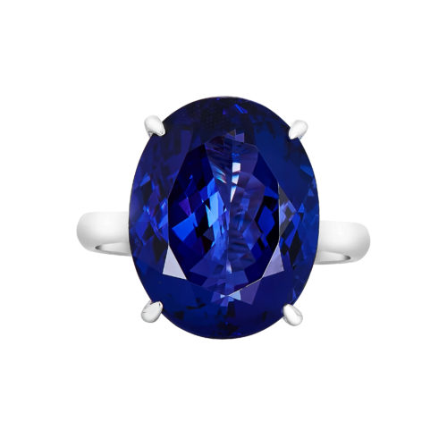 Oval Shape Solitaire Tanzanite Ring