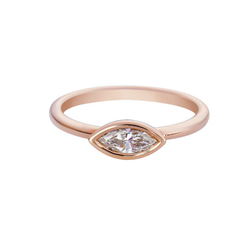 Marquise Shape Solitaire Diamond Band