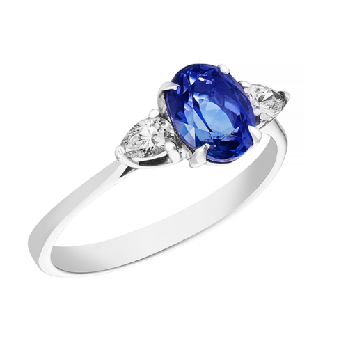 Oval Tanzante Trilogy Ring