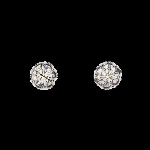 Lotus Diamond stud earrings