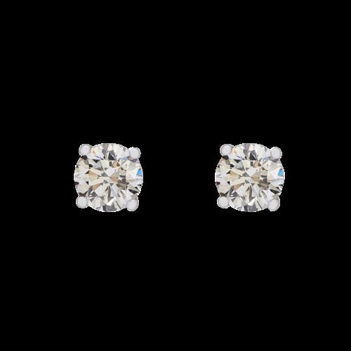 4 Claw Diamond Stud Earrings