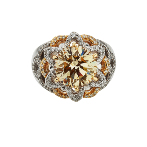 Natural Fancy Yellow Ring with