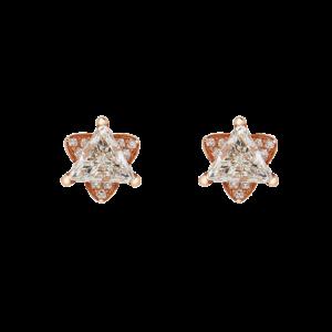 Trillion Diamond Stud Earrings