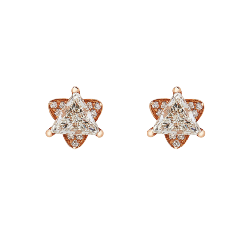 Trillion Diamond Stud Earrings