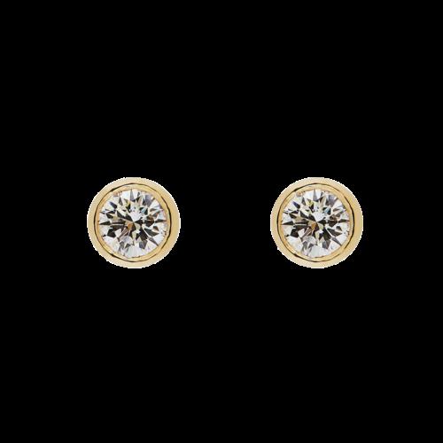 Diamond Tube Earrings