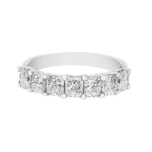 Radiant Cut Half Eternity Diamond Ring