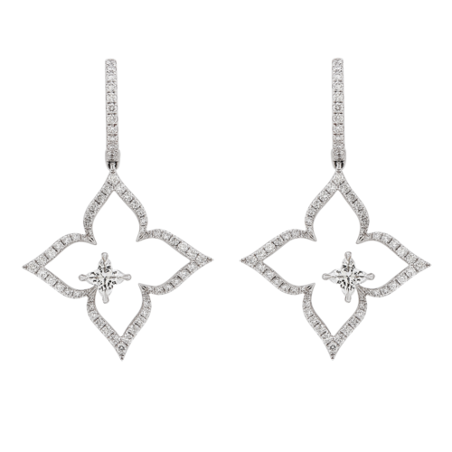 Orchidea® Cut flower diamond earrings