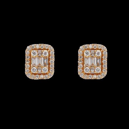 Halo Illusion diamond earrings