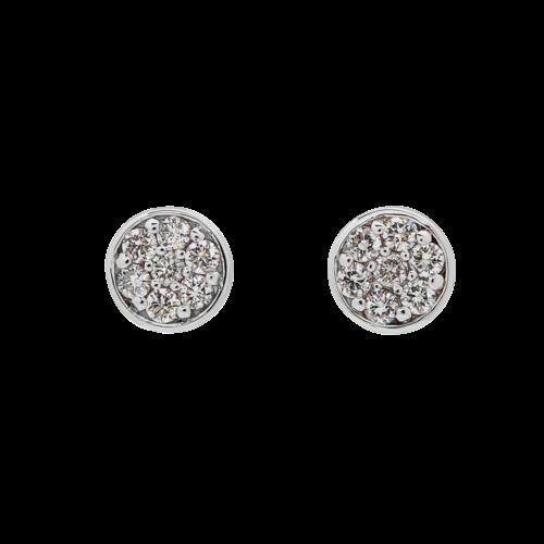 Pave Button Diamond stud earrings