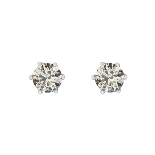 6 Claw Diamonds Stud Earrings