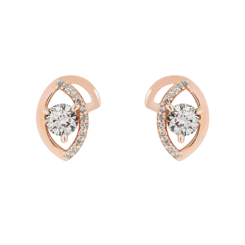 Leave Diamond stud earrings