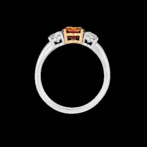 Fancy Brown-Yellow Trilogy Diamond Ring