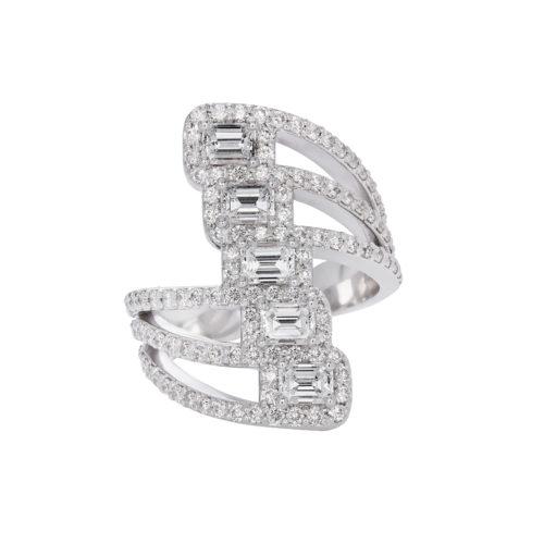 5stone emeraldcut dress ring