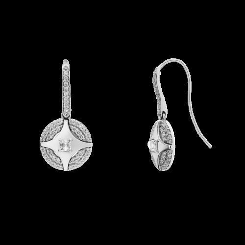 Diamond dropp earrings