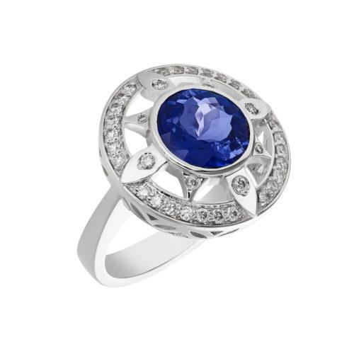Compass Tanznite ring