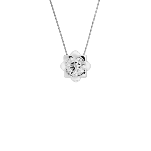 Solitaire Flower Diamond Pendant