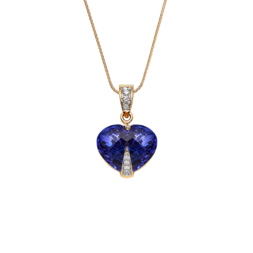 Heart Shape Tanzanite Pendant