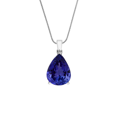 Solitaire Pear Shape Diamond Pendant