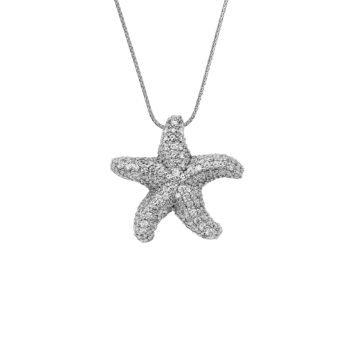 Starfish Pave Diamond Pendant